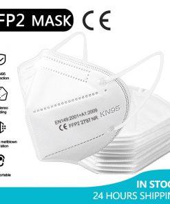 5-100 pièce FFP2 Mascarillas KN95 masques faciaux adultes 5 couches filtre masque Facial Filtration bouche masques anti-poussière masque respiratoire