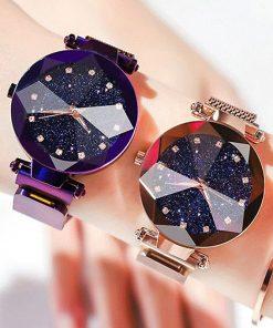 Montres ciel étoilé pour femmes, montre-bracelets de luxe et à Quartz, en diamant, à la mode